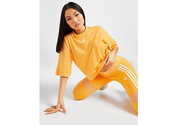 Ropa deportiva Mujer adidas camiseta crop 3-Stripes