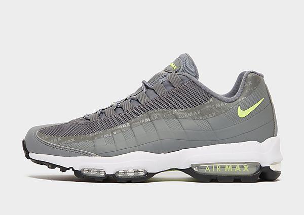 Nike Air Max 95 Ultra SE, Smoke Grey/White/Metallic Silver/Volt