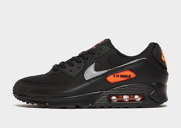 Nike Nike Air Max 90 Zapatillas - Hombre, Black/Total Orange/Reflect Silver
