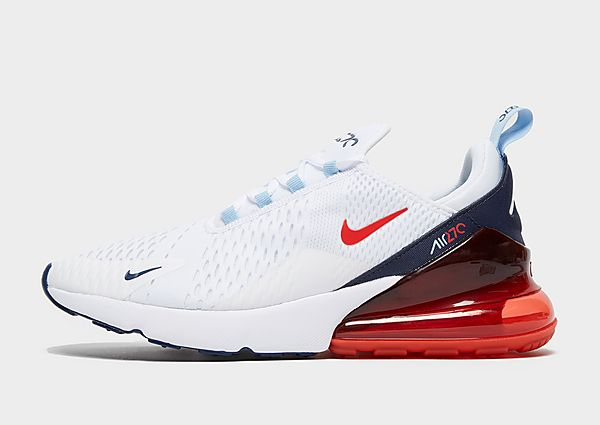 Nike Air Max 270, White/Midnight Navy/Psychic Blue/Chile Red