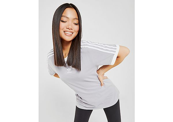 Ropa deportiva Mujer adidas Originals camiseta 3-Stripes Trefoil Boyfriend