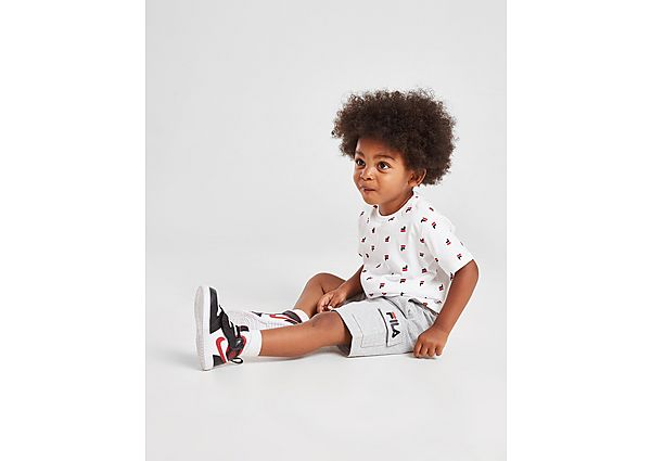 Fila Oskar All Over Print T-Shirt/Shorts Set Infant - Kind