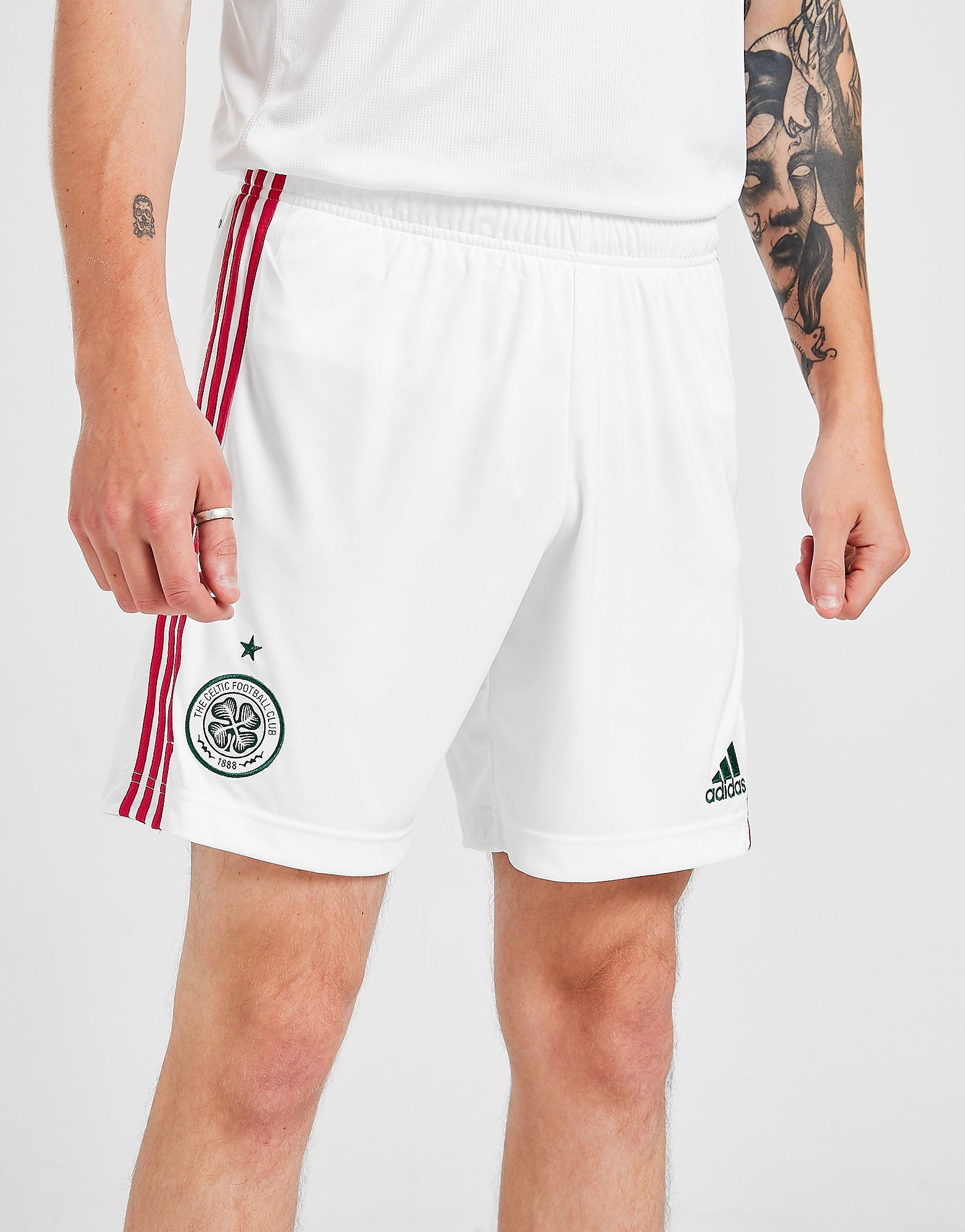 adidas Celtic FC 2021/22 Tredjeshorts Herr FÖRBESTÄLLNING, Vit