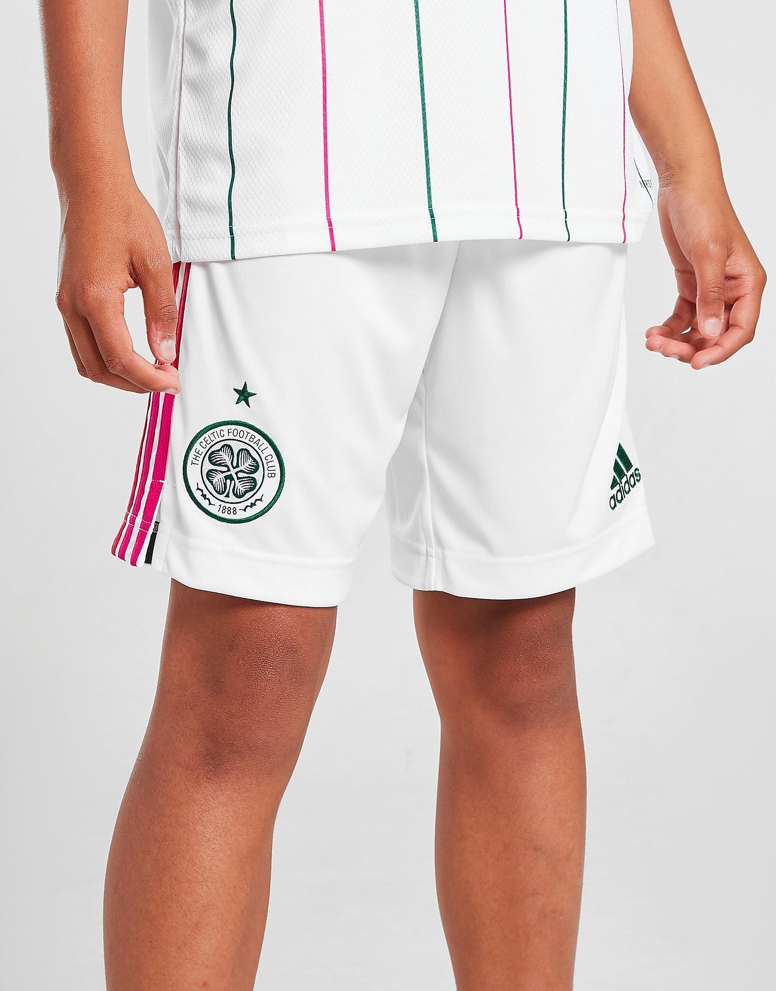 adidas Celtic FC 2021/22 Tredjeshorts Junior FÖRBESTÄLLNING, Vit