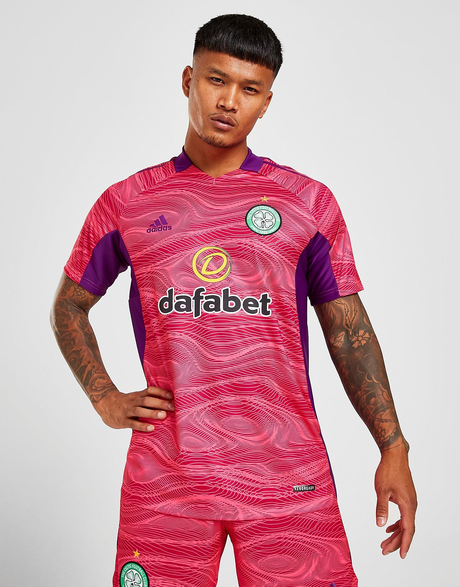 adidas Celtic FC 2021/22 Goalkeeper Third Shirt PRE ORDER, Rosa