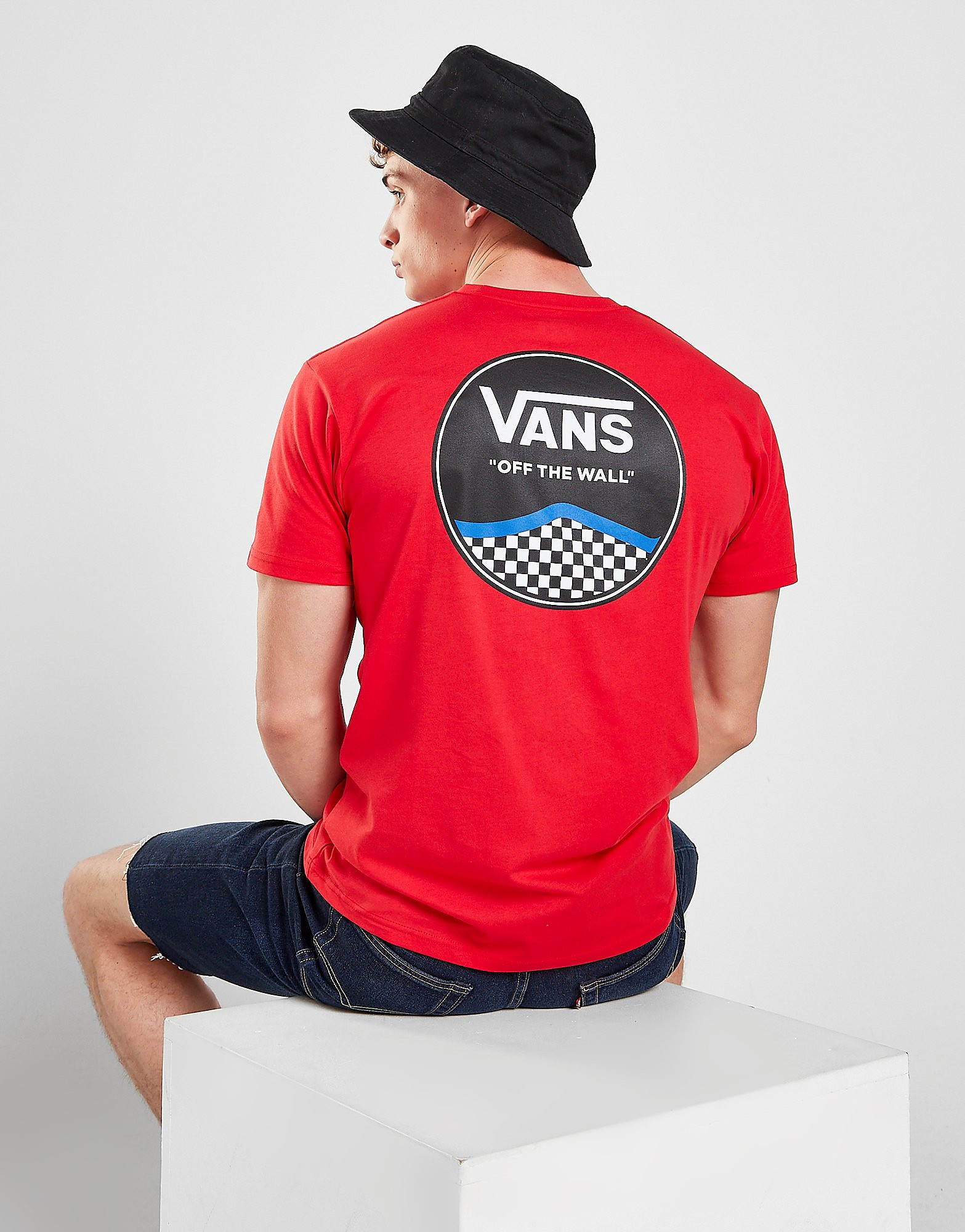 Vans Circle Logo T-Shirt - Only at JD, Röd
