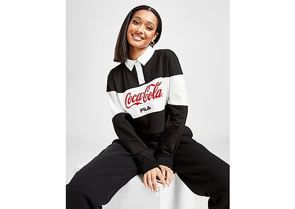 Ropa deportiva Mujer Fila x Coca-Cola polo Crop Panel Rugby
