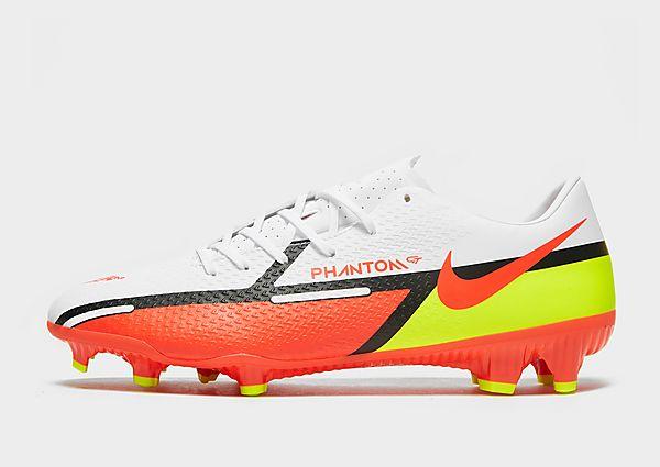 Nike Nike Phantom GT2 Academy MG Botas de fútbol multisuperficie, White/Volt/Bright Crimson