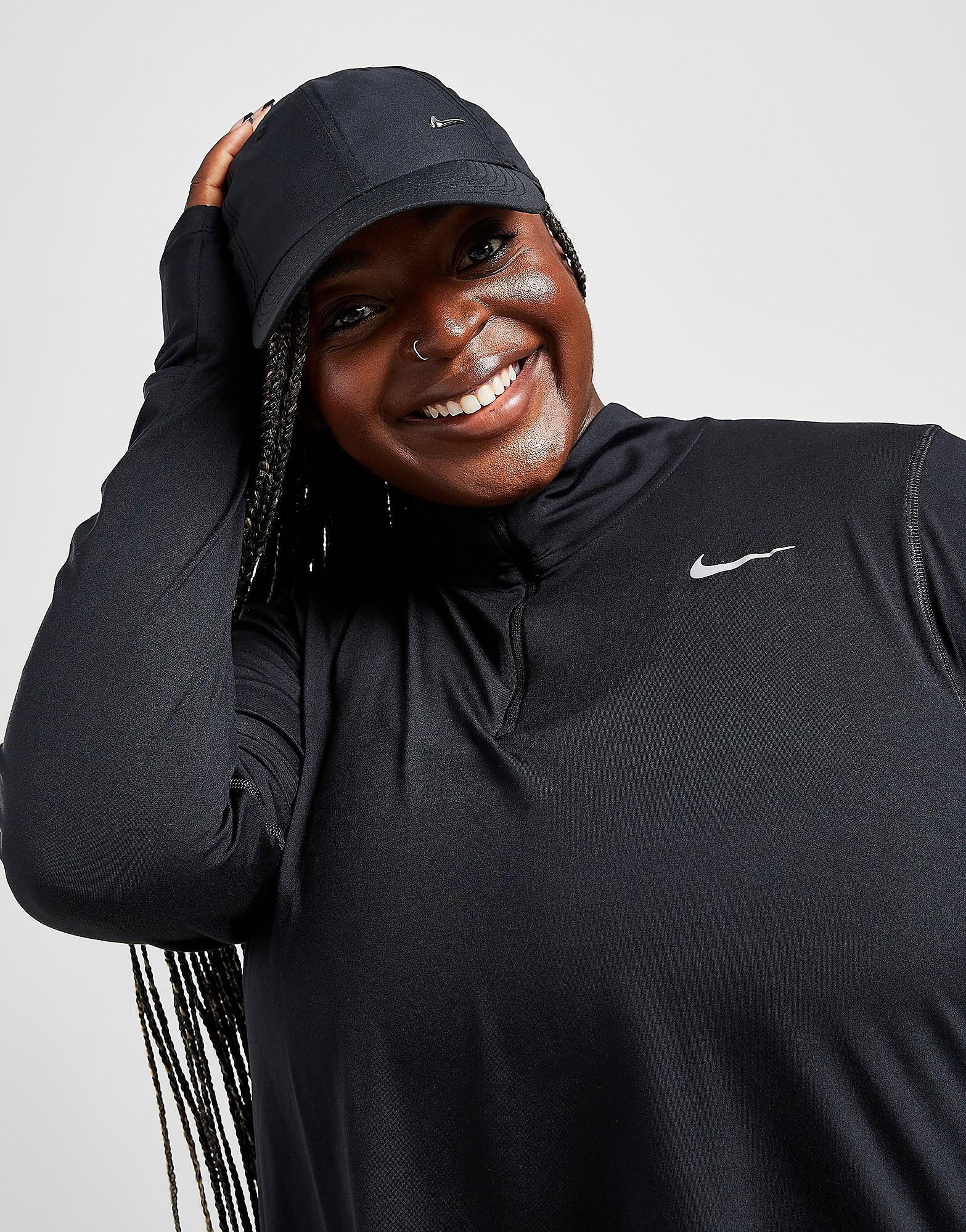 Nike Element Plus Size 1/4 Zip Track Top, Svart