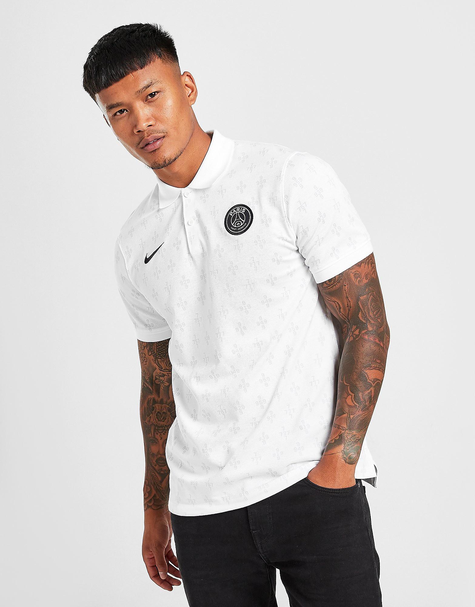 Nike Paris Saint Germain Slim Polo Shirt, Vit