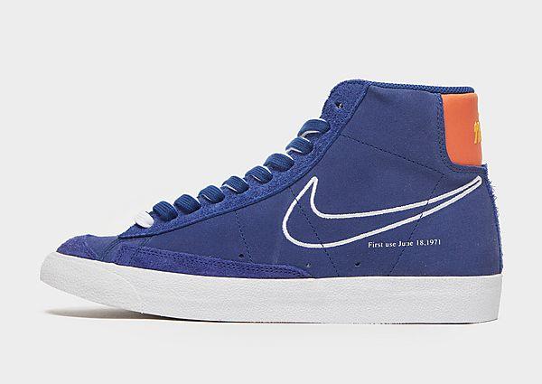 Nike Blazer Mid S50, Deep Royal Blue/Orange/University Gold/White