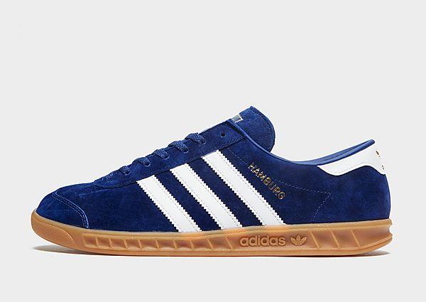 adidas Originals Zapatilla Hamburg, Victory Blue / Cloud White / Gum
