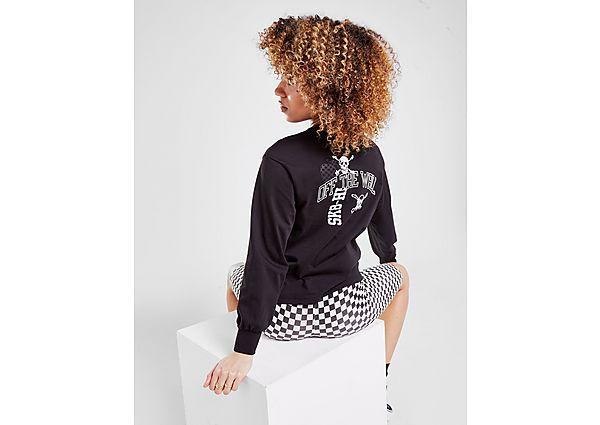 Ropa deportiva Mujer Vans camiseta crop de manga larga Skull