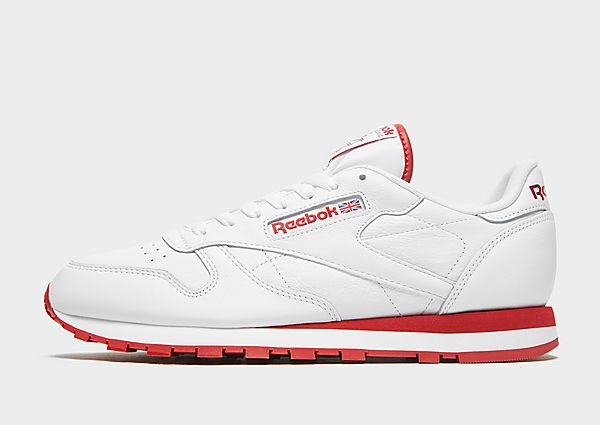 Reebok Classic Leather, Cloud White / Flash Red / Cloud White