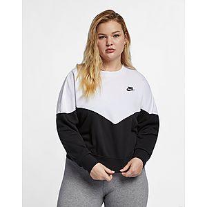 NIKE Nike Sportswear Heritage Women s Fleece Crew (Plus Size) 03a179bd6c