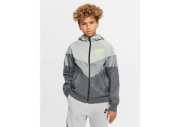 Nike Sportswear Colour Block Lightweight Jacket Junior - Photon Dust/Light Smoke Grey/Smoke Grey/Light Lemon Twist - Kind