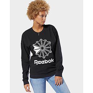 503f89bc8b2b REEBOK Classics French Terry Big Logo Crew Sweatshirt ...