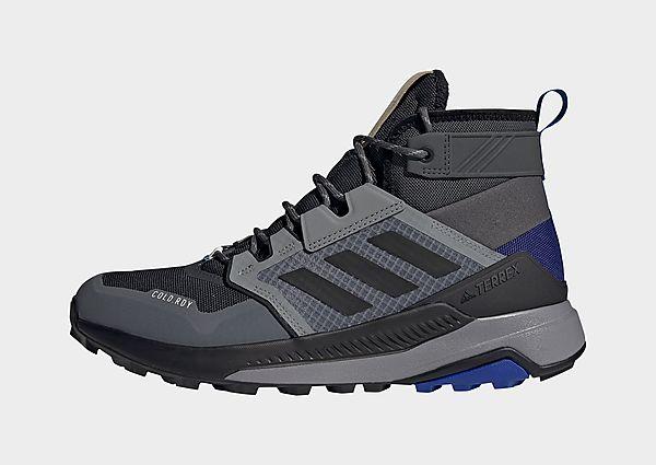 adidas Zapatilla de senderismo Terrex Trailmaker Mid COLD.RDY, Grey Six / Core Black / Halo Blue