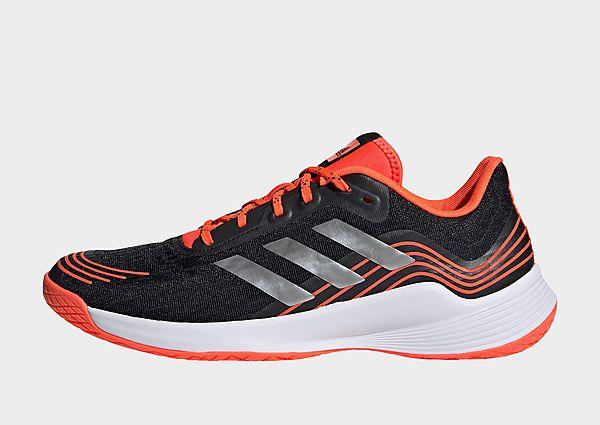 adidas Zapatilla Novaflight Volleyball, Core Black / Silver Metallic / Solar Red