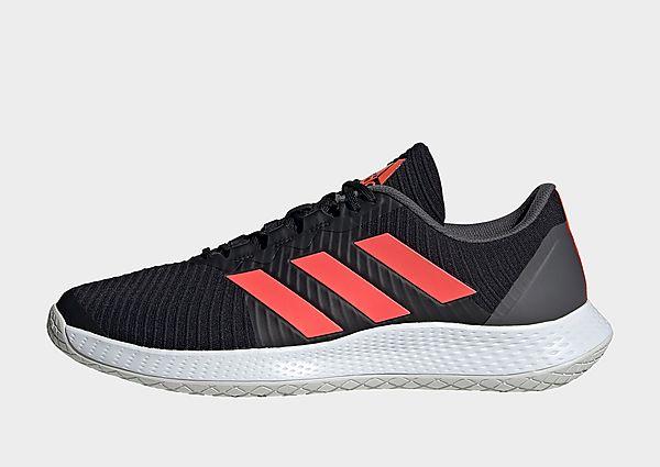 adidas Zapatilla ForceBounce Handball, Core Black / Solar Red / Grey Five