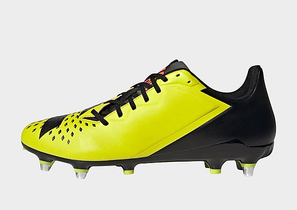 adidas Bota de rugby Malice césped natural húmedo, Acid Yellow / Core Black / Solar Red