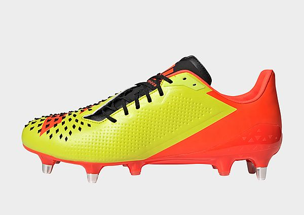 adidas Bota de rugby Predator Malice césped natural húmedo, Acid Yellow / Core Black / Solar Red