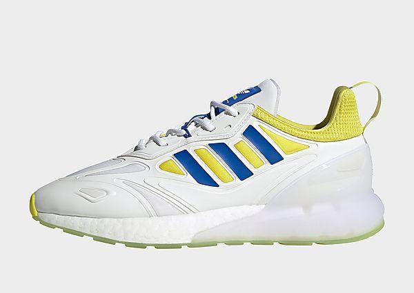 adidas Originals Zapatilla ZX 2K Boost 2.0 Juventus, Cloud White / Shock Yellow / Hi-Res Blue