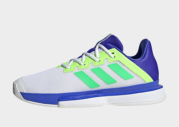 adidas Zapatilla SoleMatch Bounce Tennis, Sonic Ink / Screaming Green / Signal Green