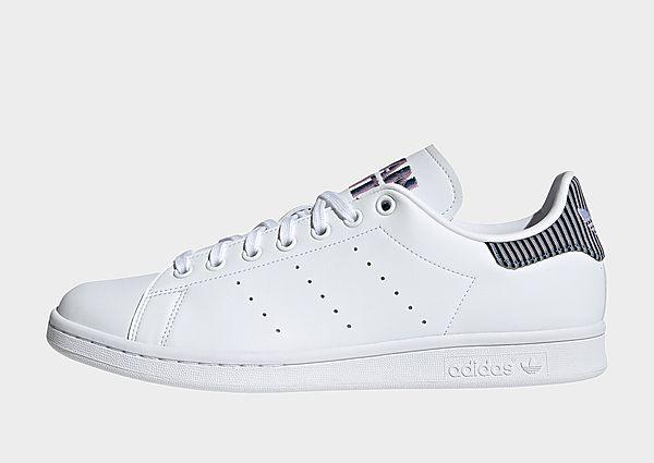 adidas Originals Zapatilla Stan Smith, Cloud White / Light Blue / Clear Pink