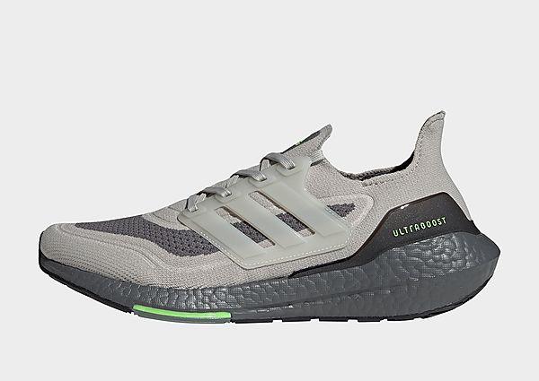adidas Zapatilla Ultraboost 21, Metal Grey / Metal Grey / Signal Green