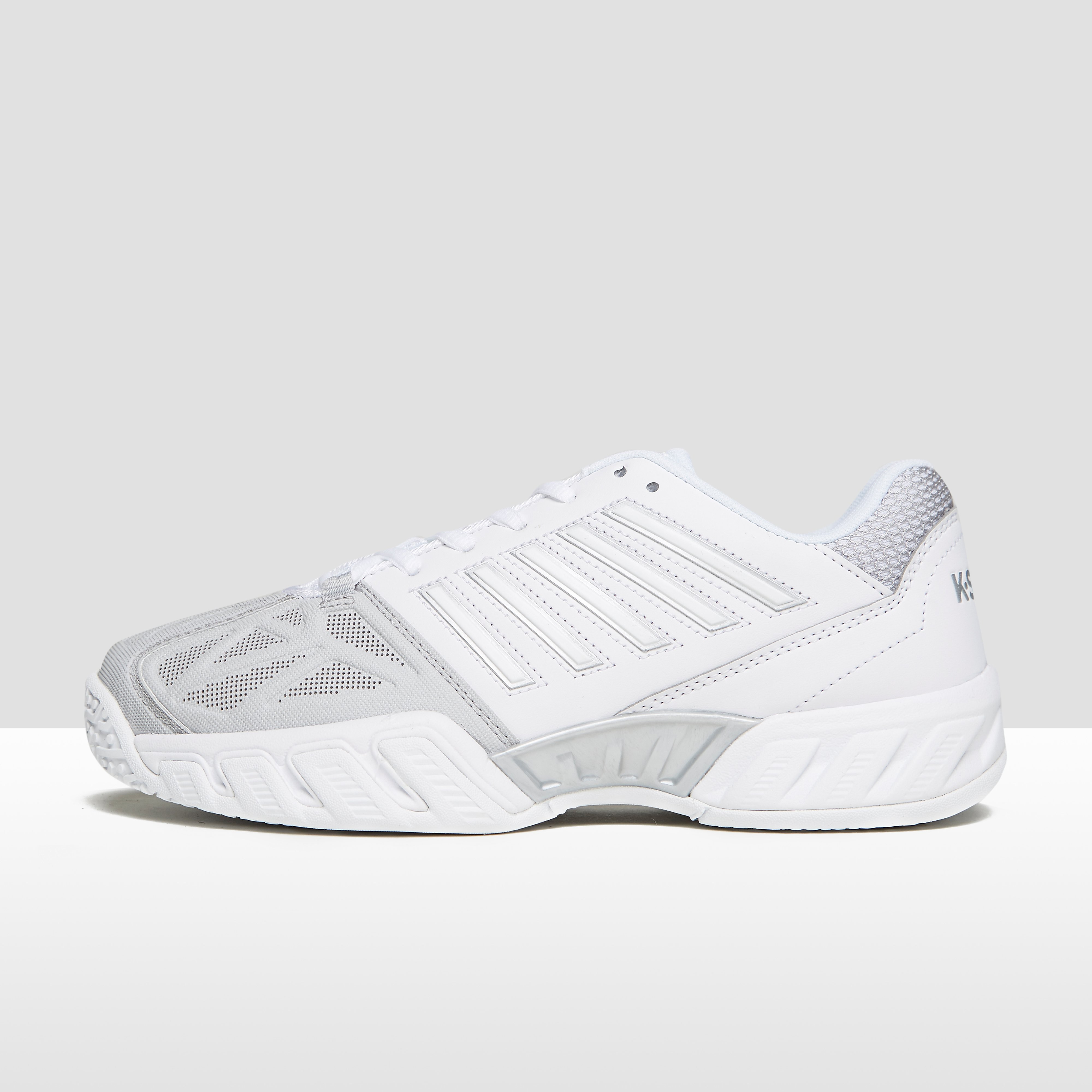 K-SWISS BIGSHOT LIGHT 3 OMNI TENNISSCHOENEN WIT/GRIJS DAMES