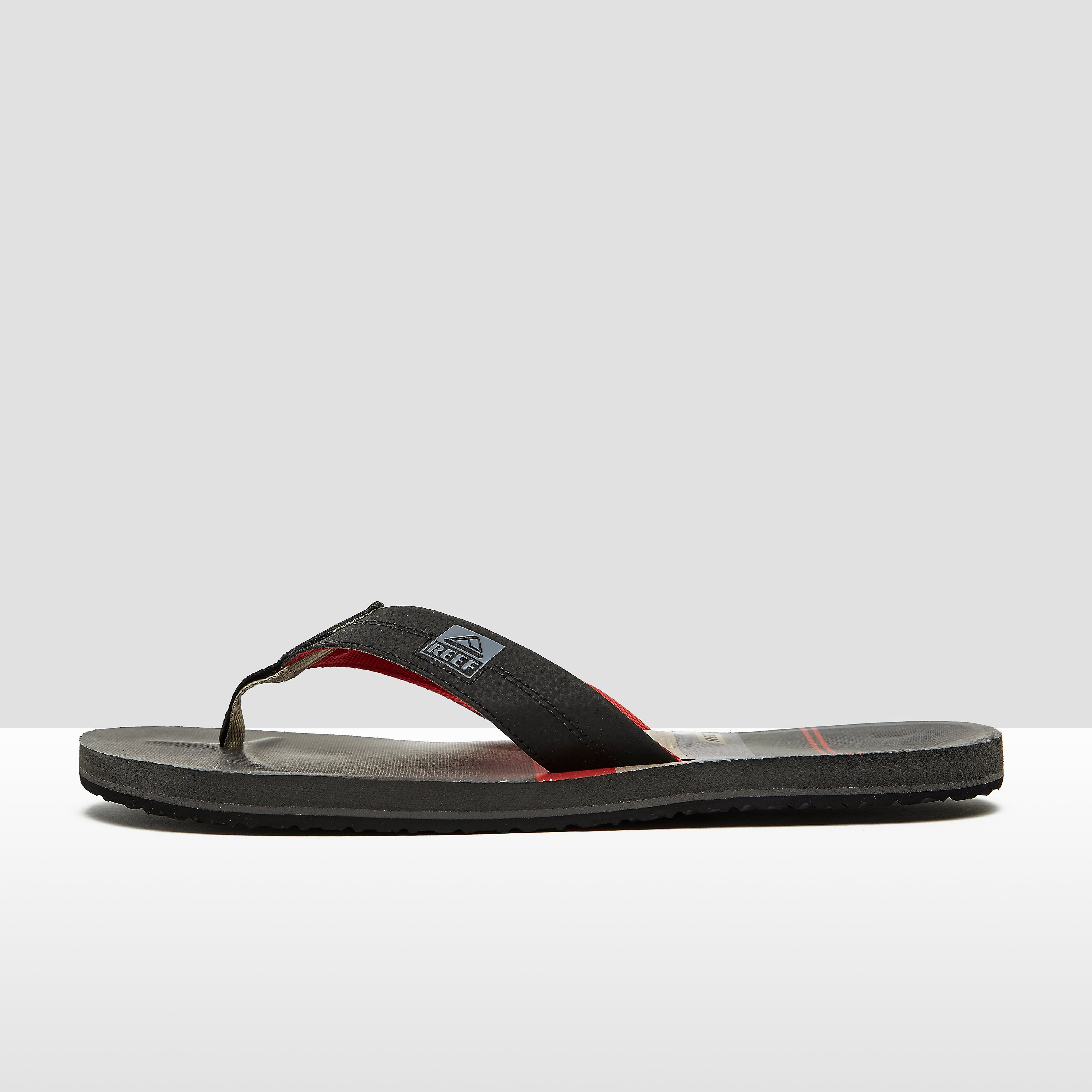 REEF PRINTS SLIPPERS ZWART/ROOD HEREN