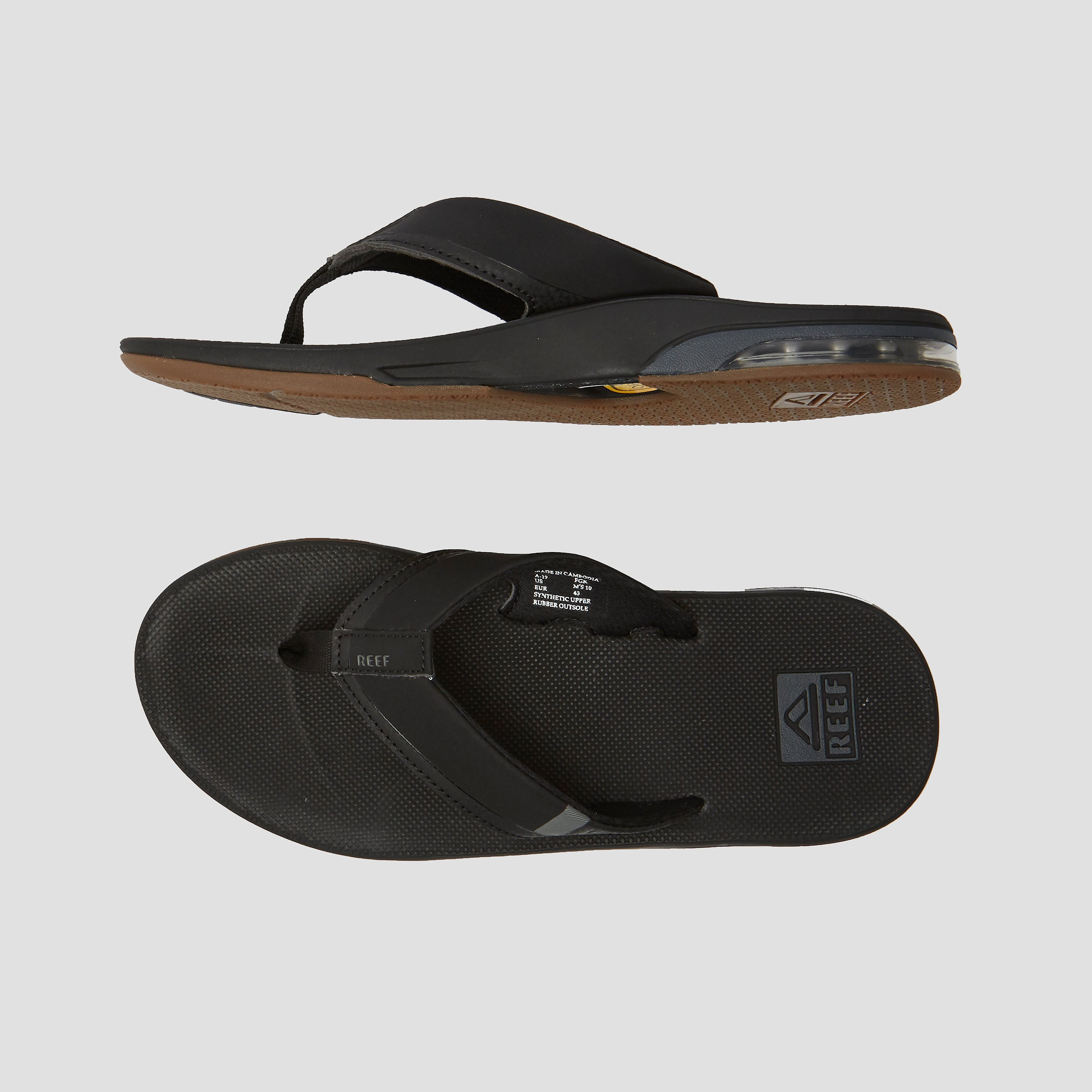 REEF FANNING 2.0 SLIPPERS ZWART HEREN
