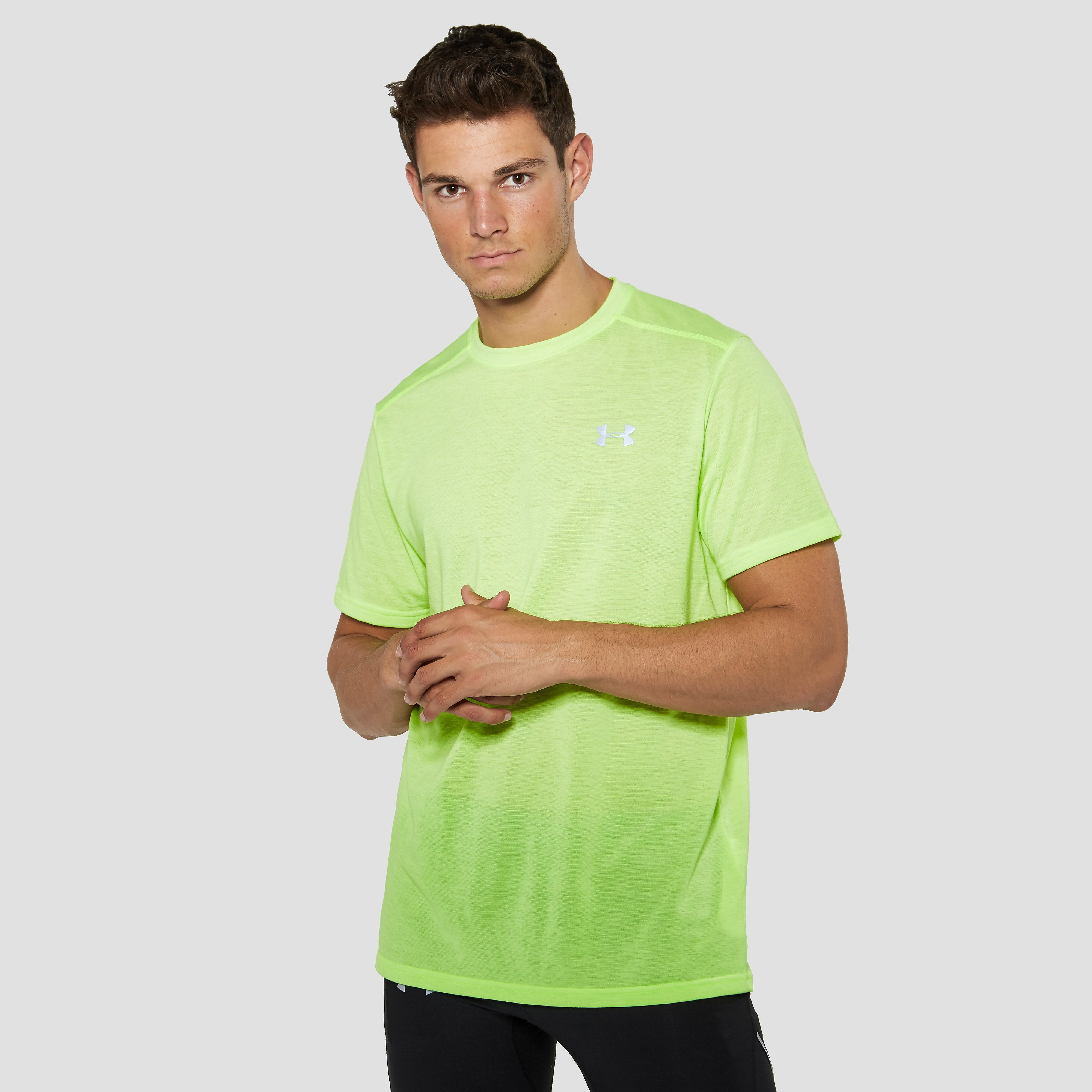 UNDER ARMOUR THREADBORNE STREAKER HARDLOOPSHIRT GEEL HEREN