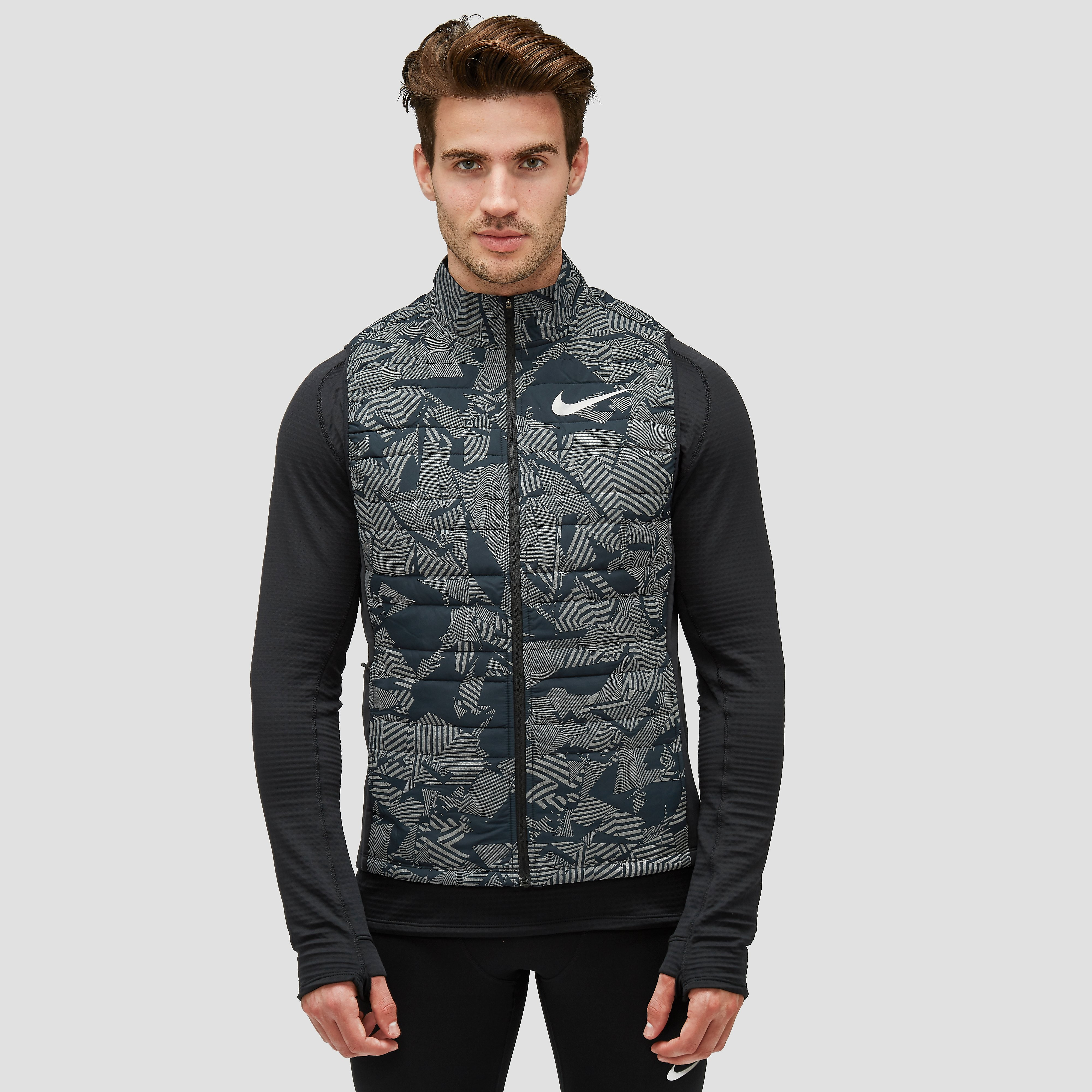 NIKE ESSENTIAL FLASH HARDLOOP BODYWARMER ZWART HEREN