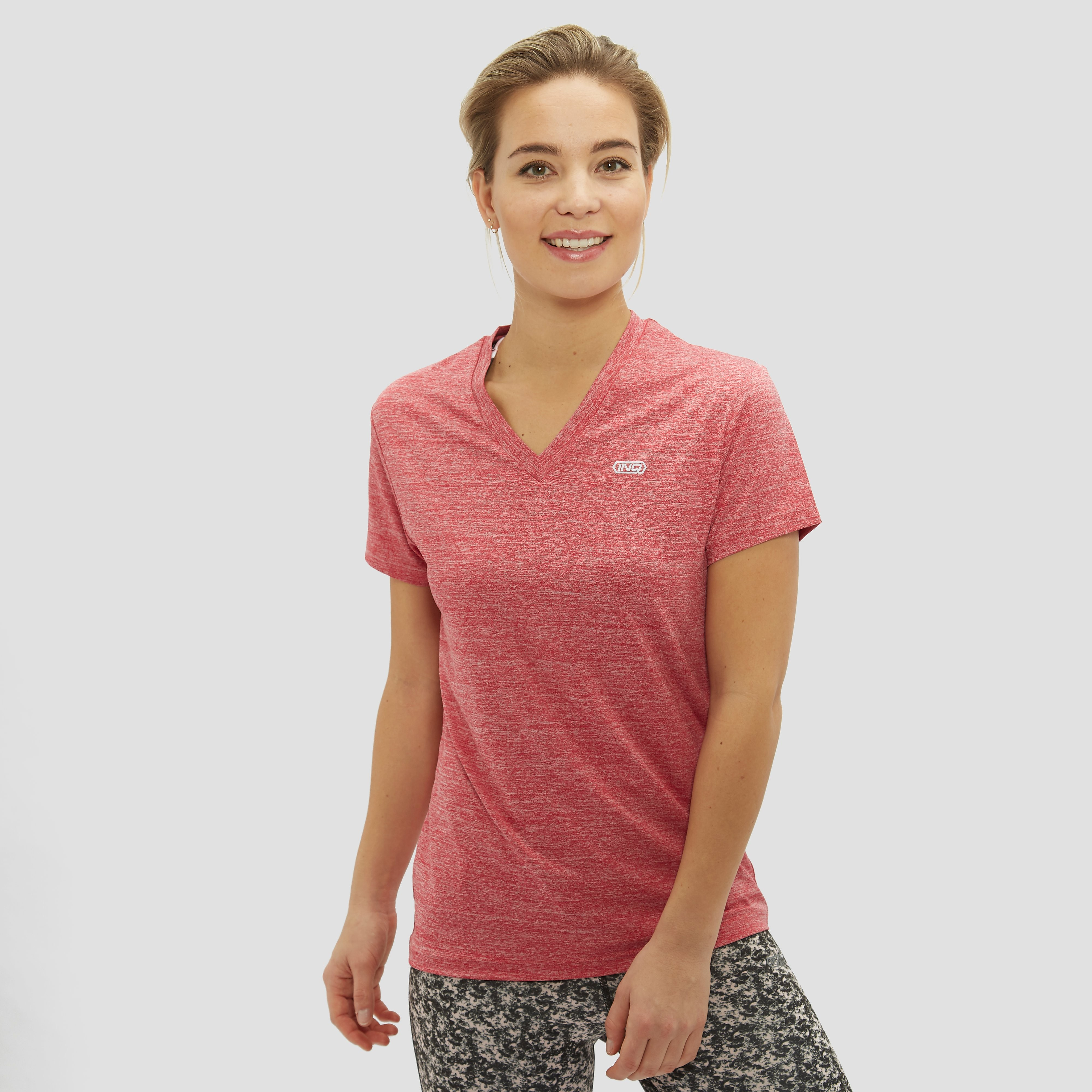 INQ CONTROL PALE HARDLOOPSHIRT ROZE DAMES