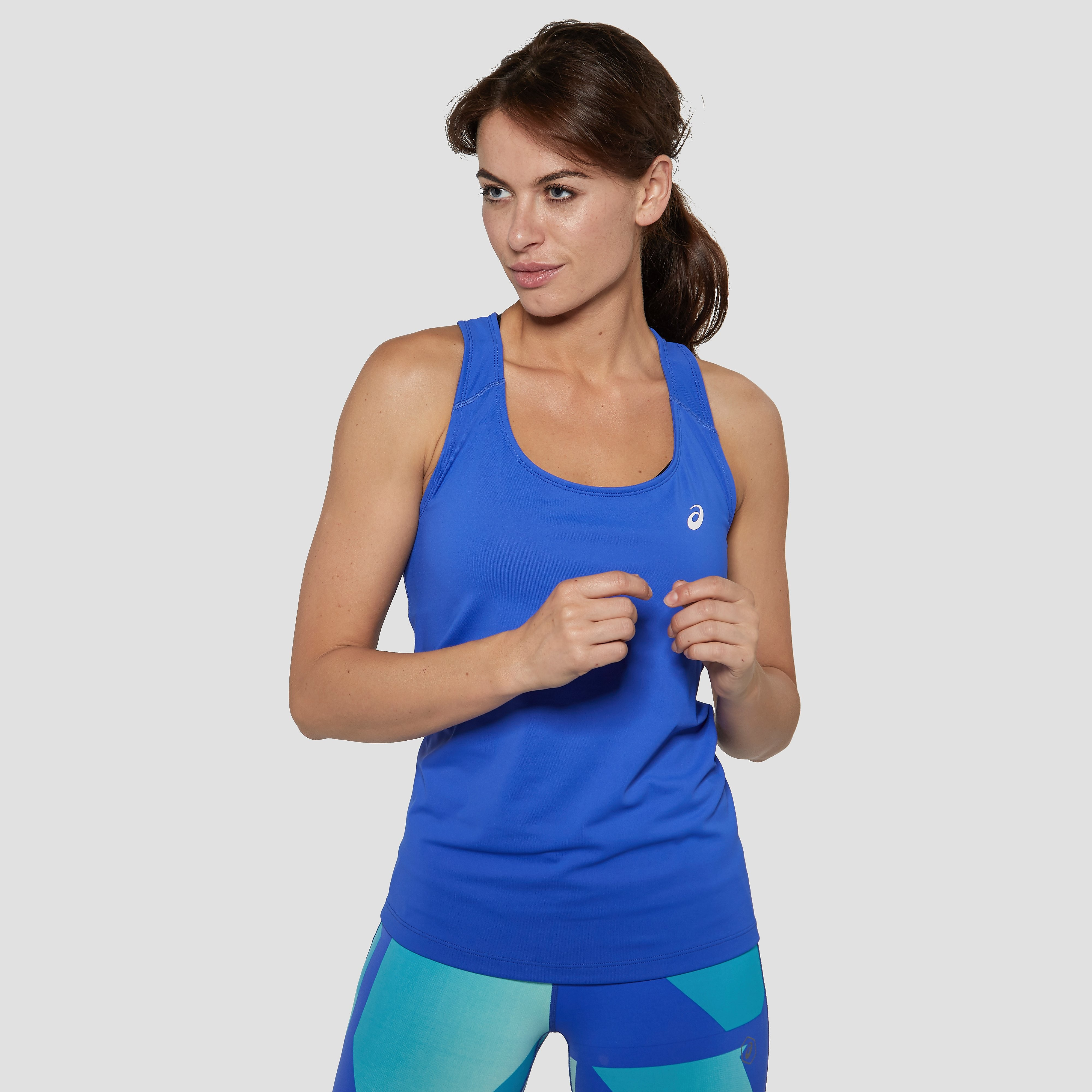 ASICS FITTED HARDLOOPSHIRT BLAUW DAMES