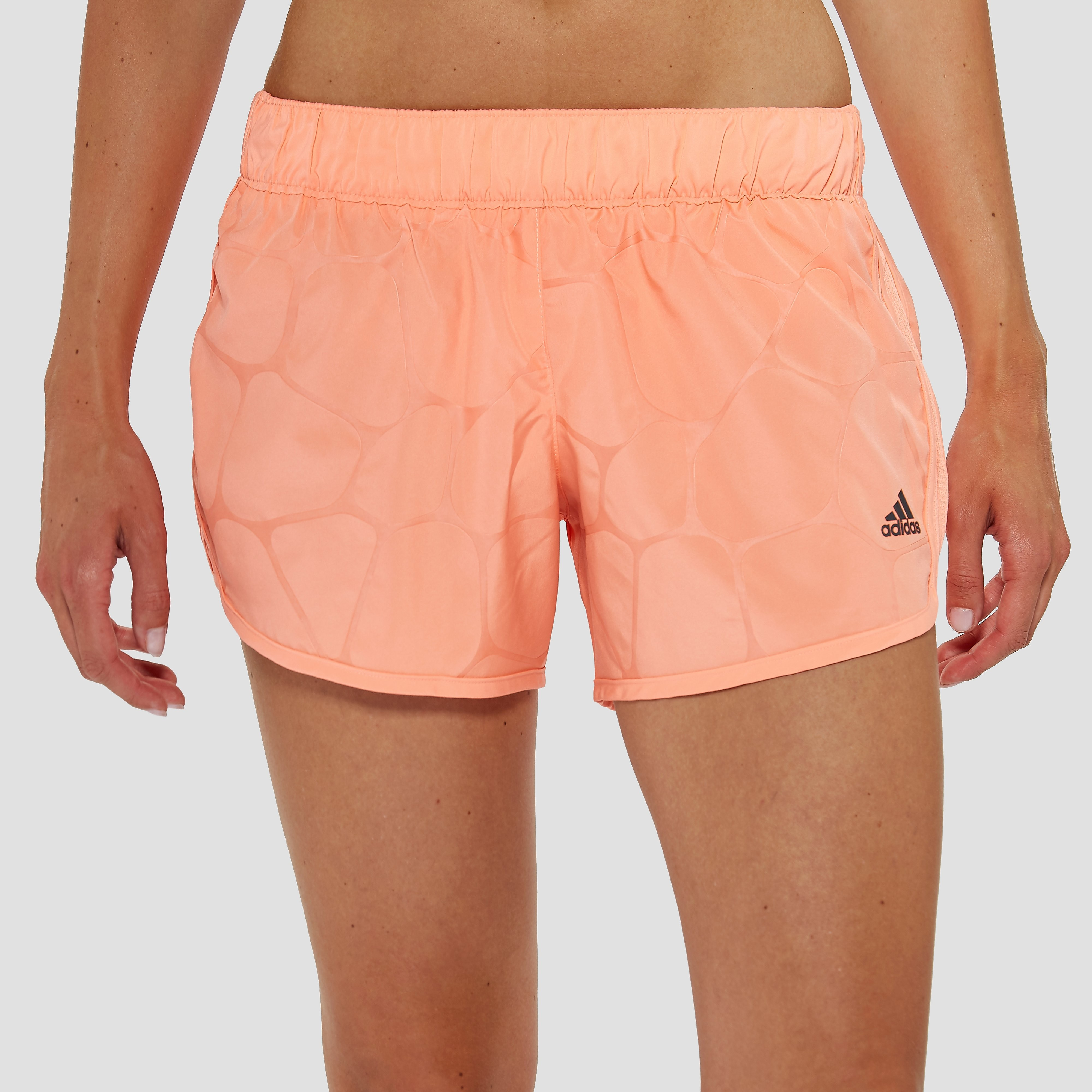 ADIDAS M10 BOOST 5-INCH HARDLOOPSHORT ROOD DAMES