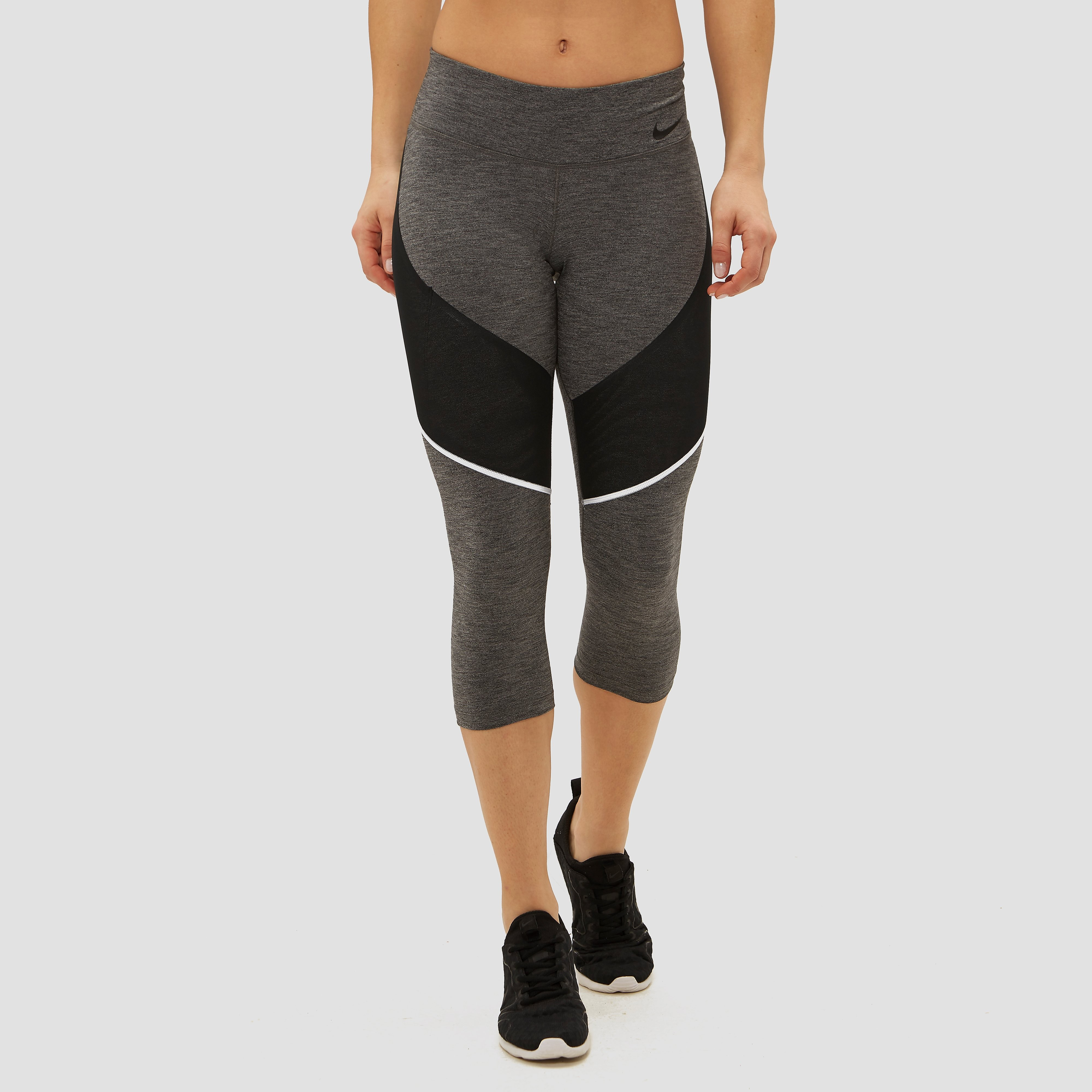 NIKE POWER LEGENDARY RISE CAPRI GRIJS DAMES