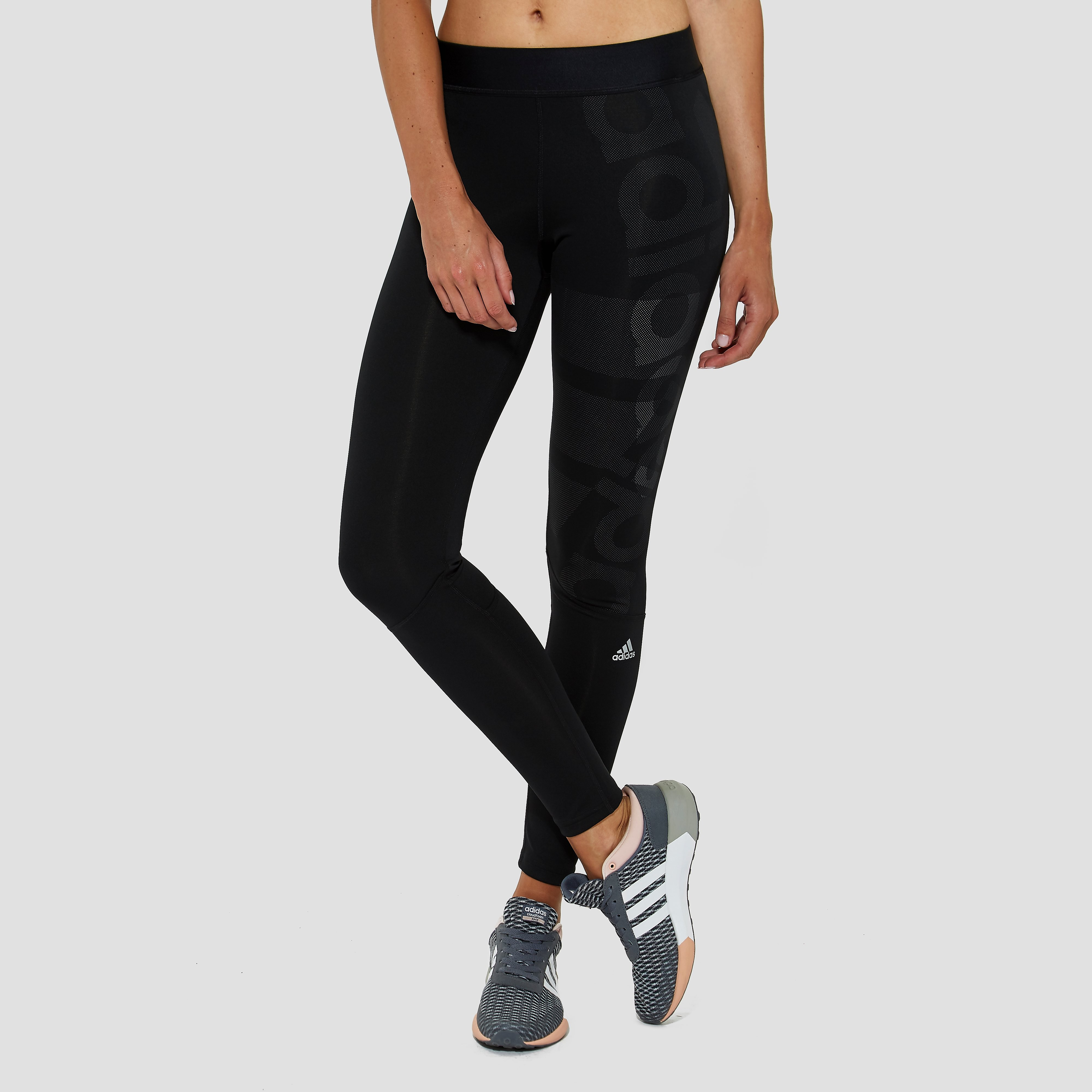ADIDAS TECHFIT LONG TIGHT ZWART DAMES