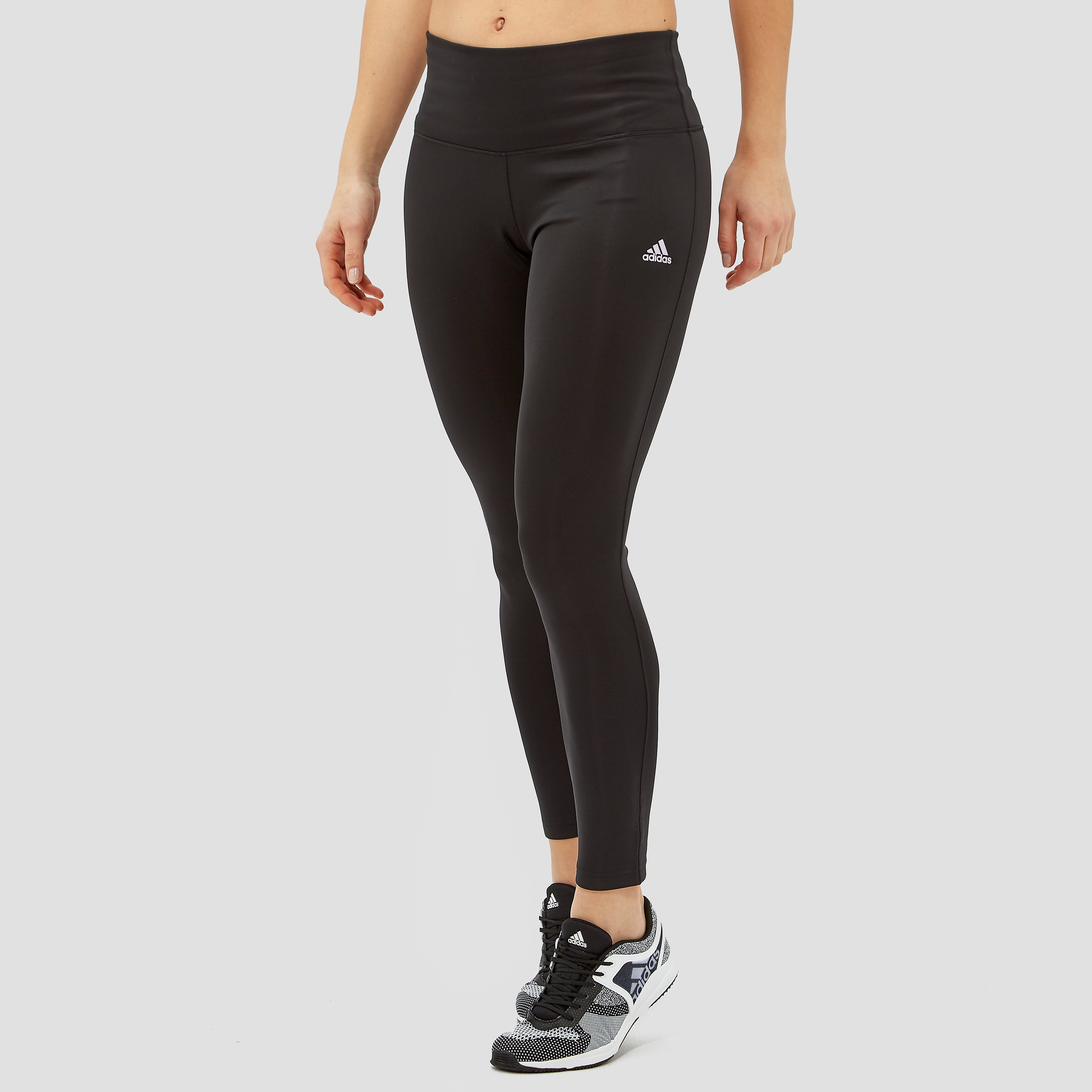 ADIDAS D2M HR SOLID TIGHT ZWART DAMES