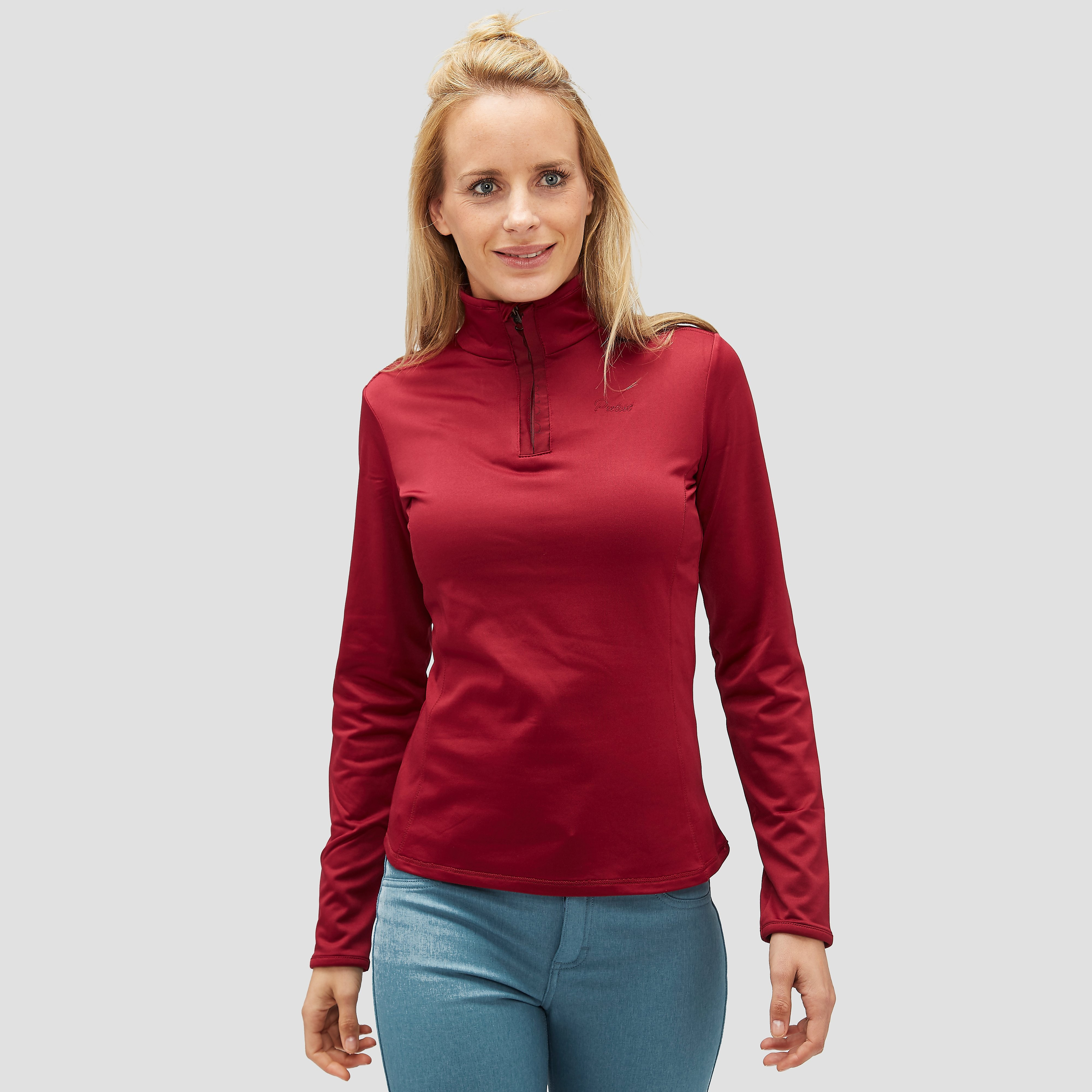 PROTEST FABRIZOY 1/4-RITS WINTER TOP ROOD DAMES