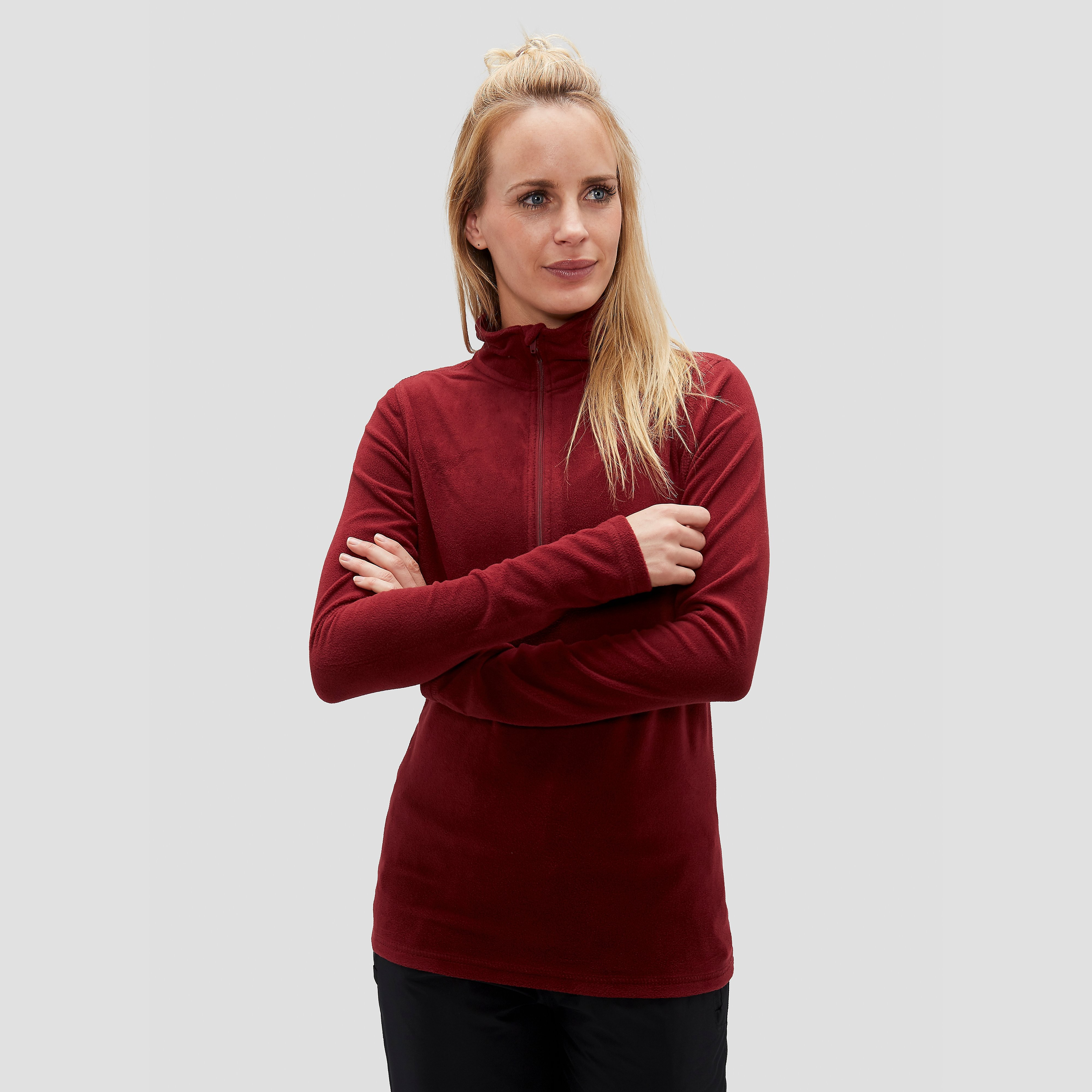 SPEX JULIANA FLEECE OUTDOOR TRUI 1/4-RITS ROOD DAMES