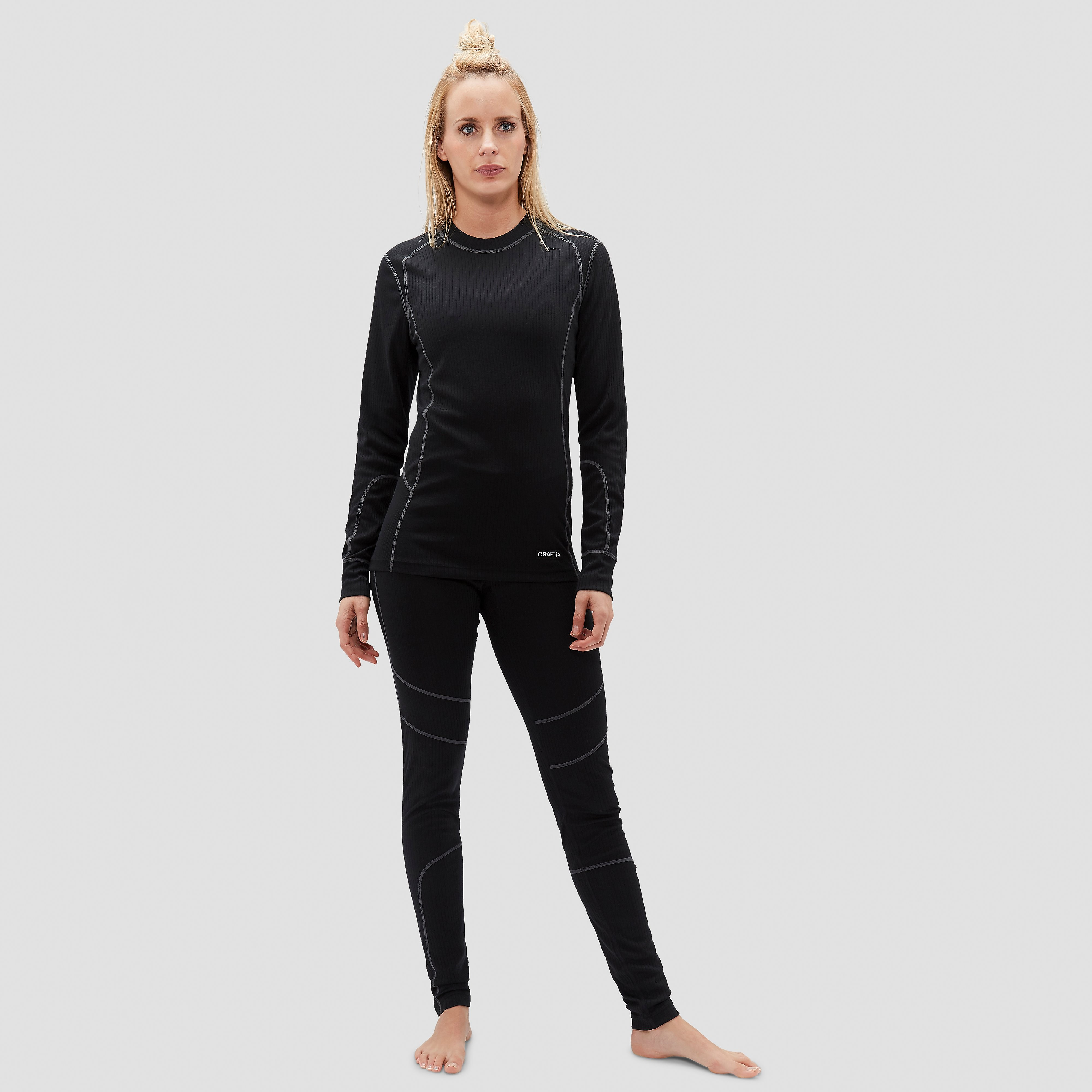 CRAFT BASELAYER THERMOSET ZWART DAMES