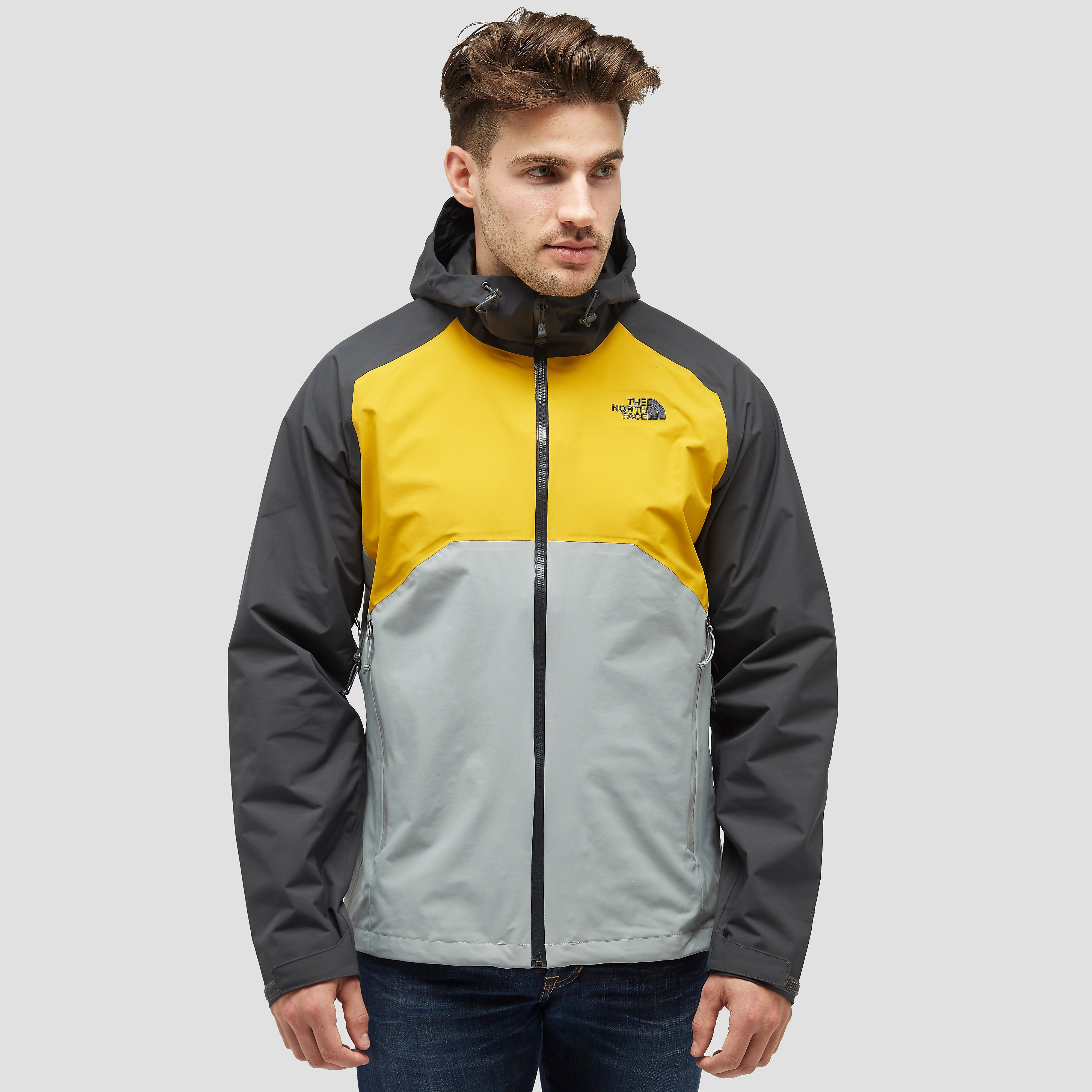 THE NORTH FACE STRATOS OUTDOOR JAS GEEL HEREN