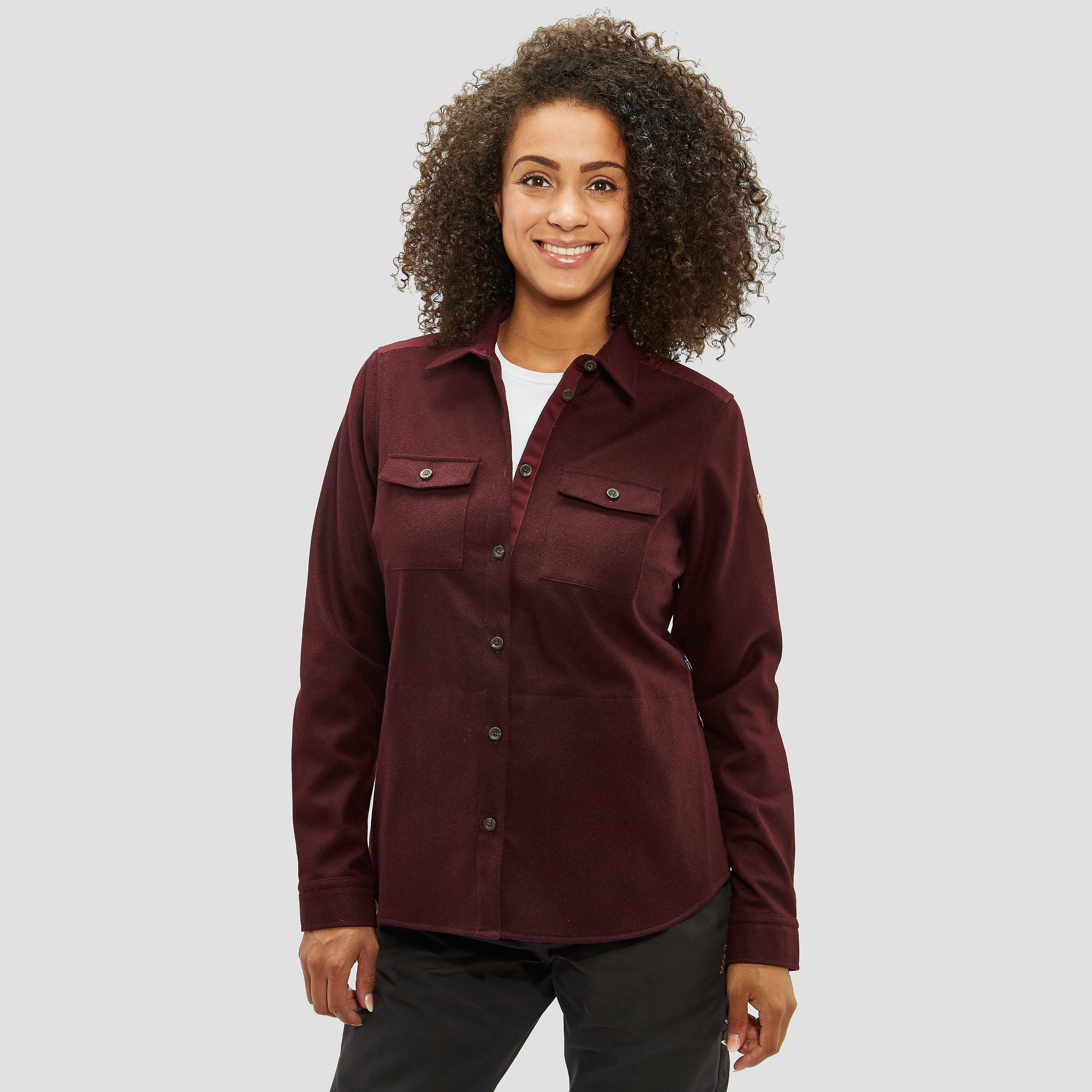 FJALLRAVEN OVIK RE-WOOL OUTDOOR SHIRT ROOD DAMES