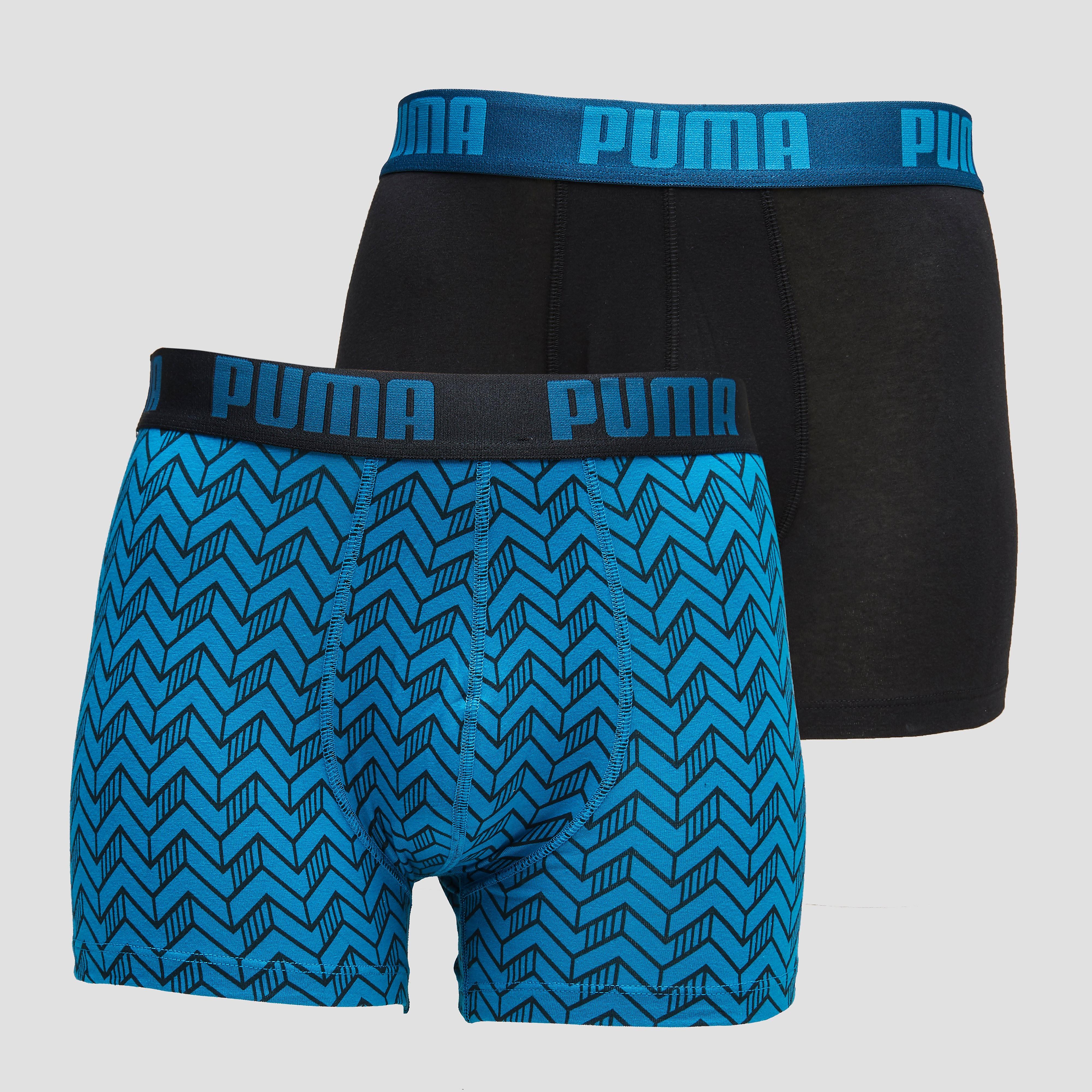 PUMA GRAPHIC PRINT BOXER BLAUW/ZWART HEREN