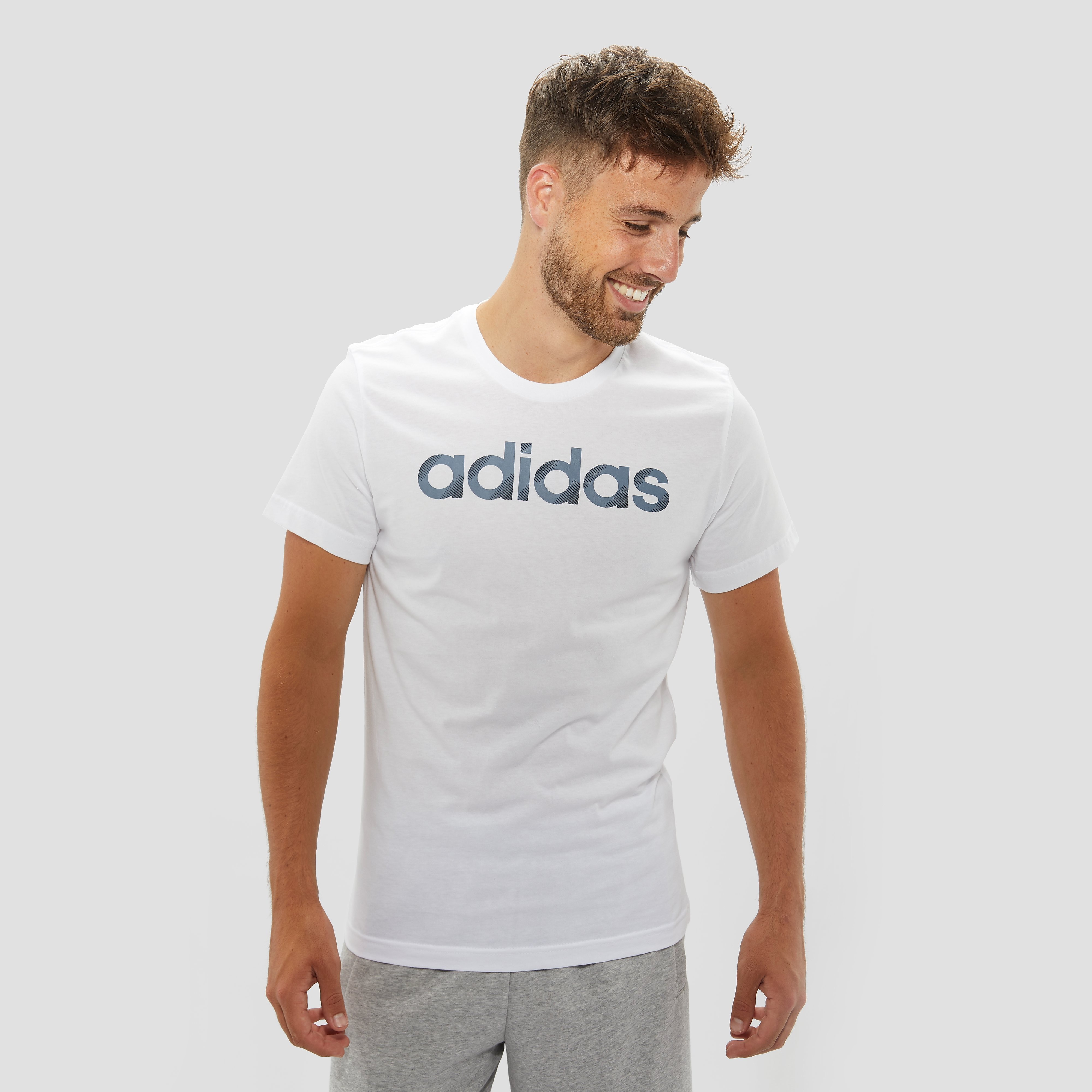 ADIDAS SLICED LINEAR SHIRT WIT HEREN