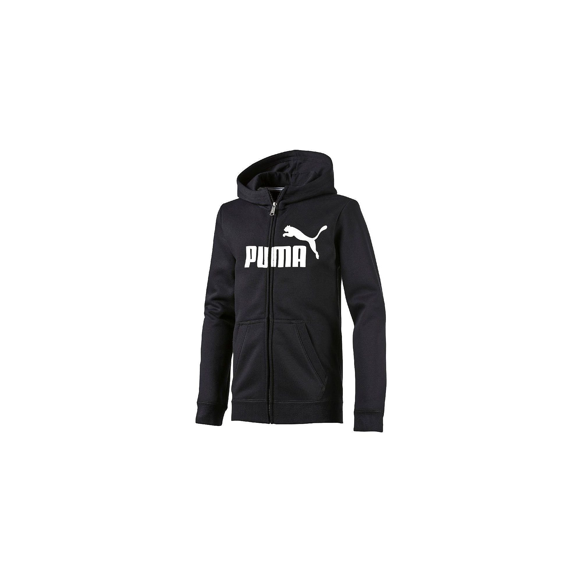 PUMA ESSENTIAL LOGO HOODED SWEAT JACKET