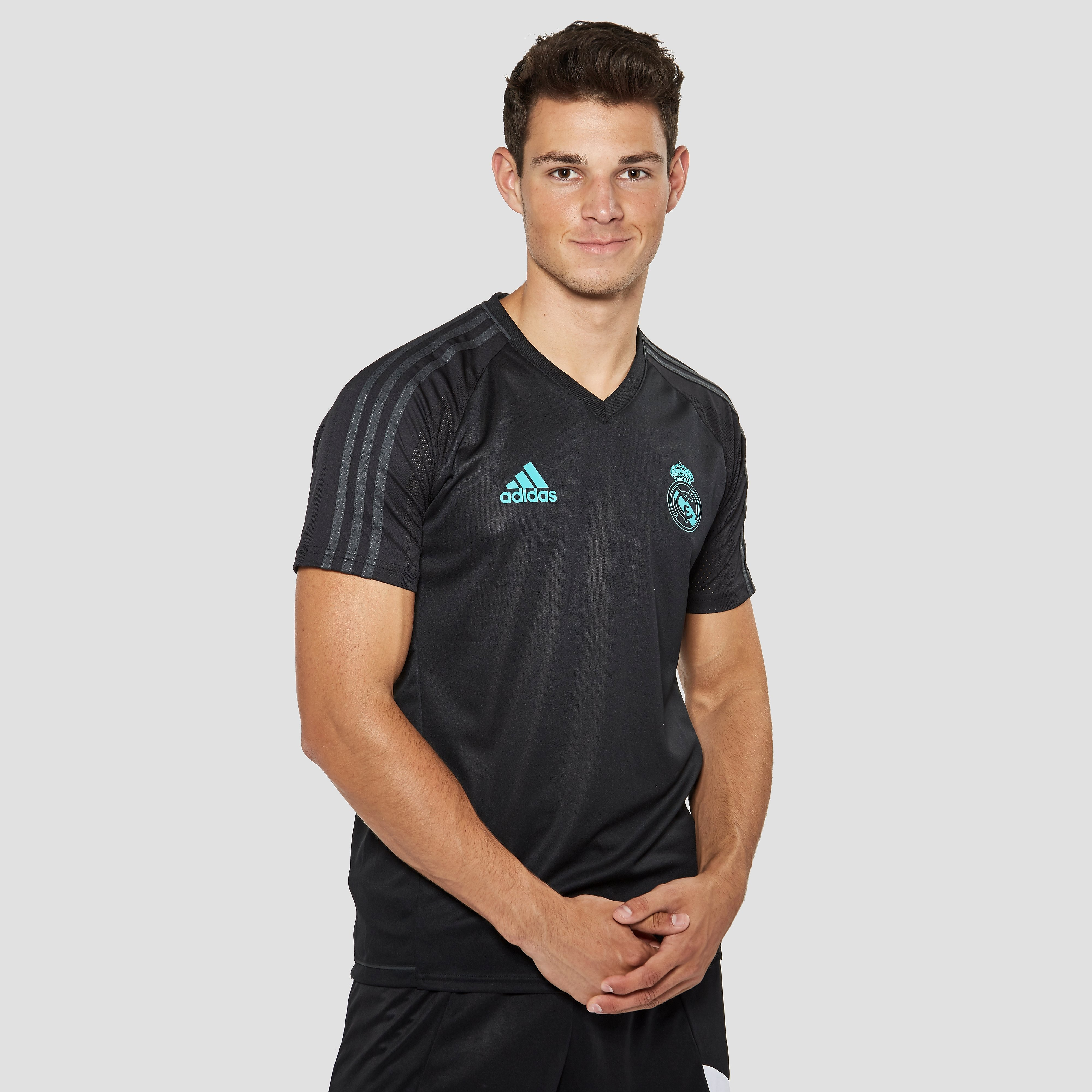ADIDAS REAL MADRID TRAININGSSHIRT 17/18 ZWART/GROEN HEREN